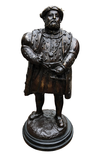 Bronze Statue Henry VIII - English King British Monarch Tudors, 20th Century