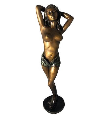 Erotic Bronze Woman, Art Deco Style, 20th Century