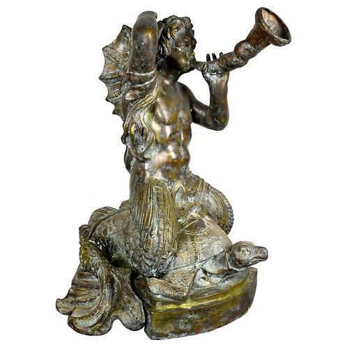 Bronze Mermaid Musical Fountain