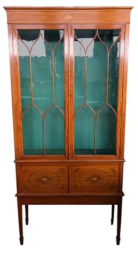 French Regency Style Sheraton Cabinet, 19th Century