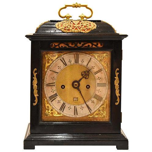 Charles II Ebony Bracket Clock by Joseph Knibb London, circa 1675—1685