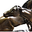 Thumbnail: French Patinated Miniature Bronze Figure of Two Horses by P.J. Mene