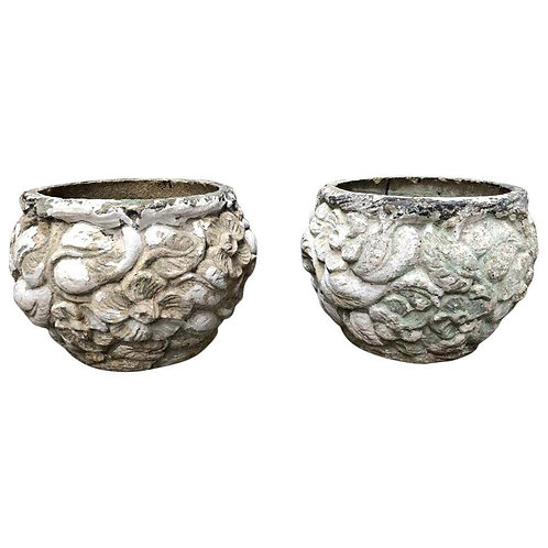 Pair of Stone Planters, 19th Century
