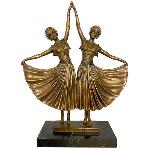 Art Deco Style Bronze Ballerinas, 20th Century