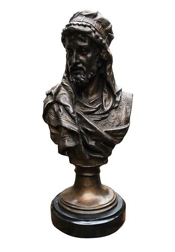 Arab Man Bronze Sculpture, 20th Century