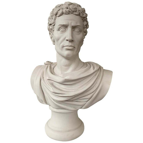Julius Caesar Bust Sculpture 'in Toga', 20th Century