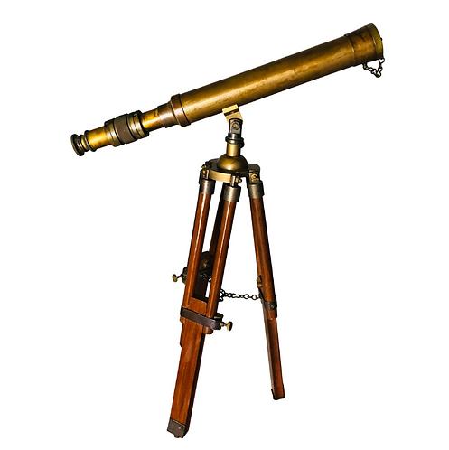 English Brass Telescope, 20th Century