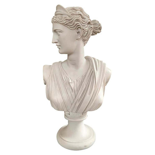 Diana Chasseresse Bust Sculpture, 20th Century