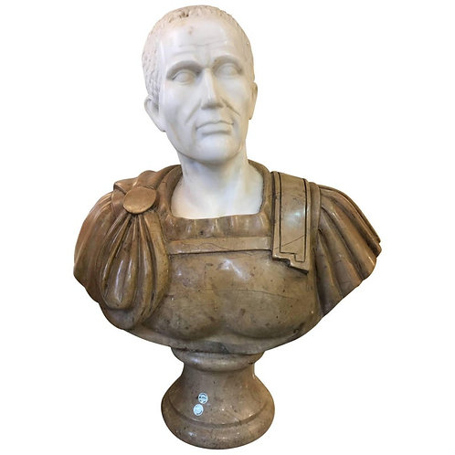 20th Century Marble Roman Bust