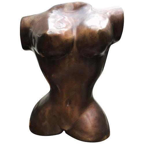 Italian Bronze Female Torso Sculpture Art, 20th Century