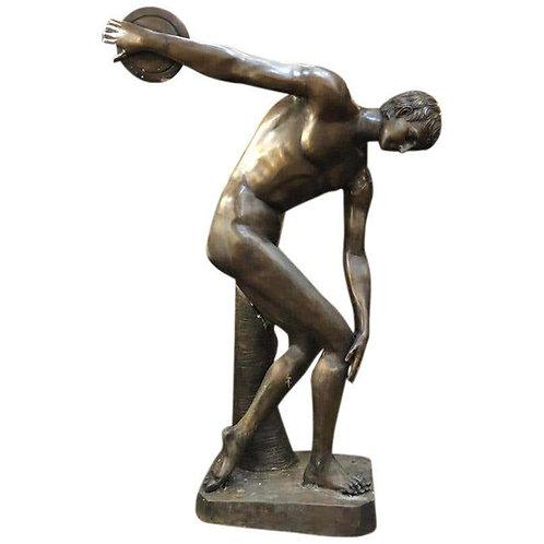 Life-Size Bronze Greek Discus Olympian Statue, 20th Century