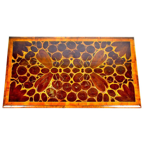 18th Century Inlaid Oyster Wood Table