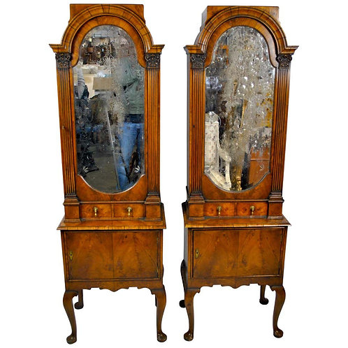 Pair of 18th Century Queen Anne English Cabinets, 1712