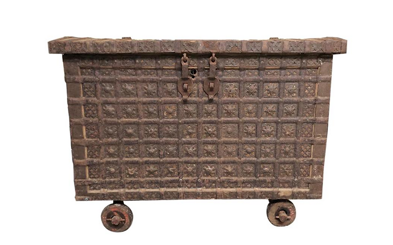 19th Century Indian Hardwood Travel Box