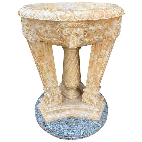 20th Century Two Toned Marble Planter/Tazzer/Bird Bath