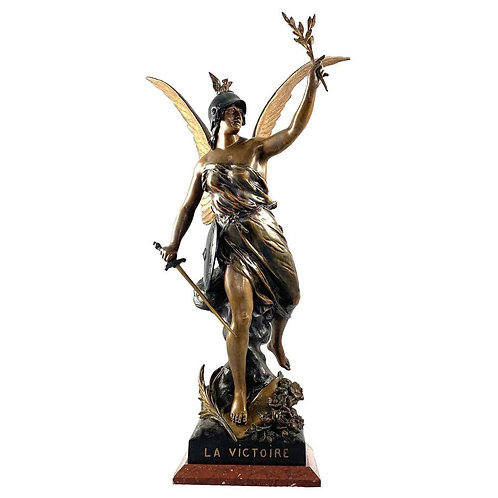 19th Century French Spelter Statue of Victory, Circa 1900, inscribed La Victoire