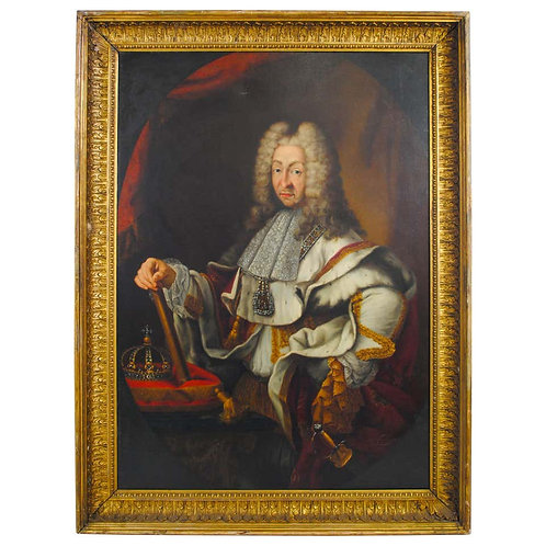 Large Oil Portrait of Victor-amédée King of Sardinia