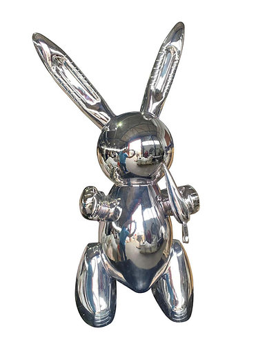 20th Century Replica of Original Chrome Rabbit by Jeff Koons