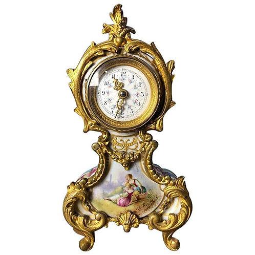 Meissen Mantle Table Clock, 19th Century