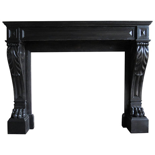 19th Century 'Dated 1813' French Black Napoleon Marble Fireplace