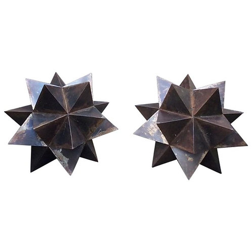 Large Steel Handmade Moravian Style Star Sculpture