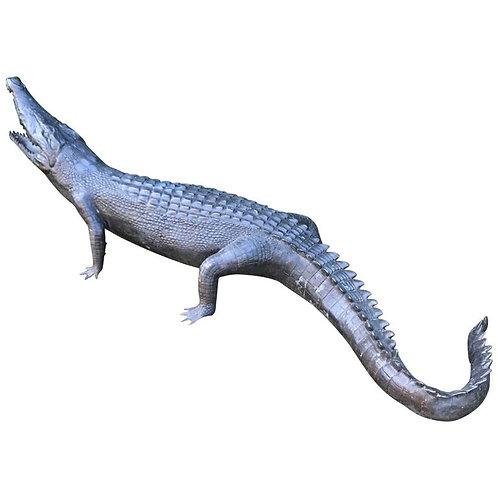 Large 20th Century Bronze Crocodile