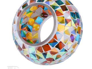 Color Changing Solar Powered Glass Mosaic Ball Led Garden Lights