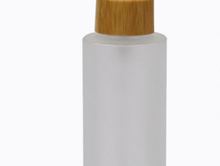 30ml 50ml frosted glass bottle with bamboo pump cap