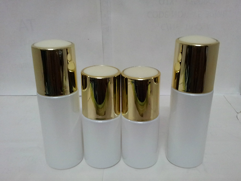 20ml 30ml 40ml shiny white glass lotion bottle