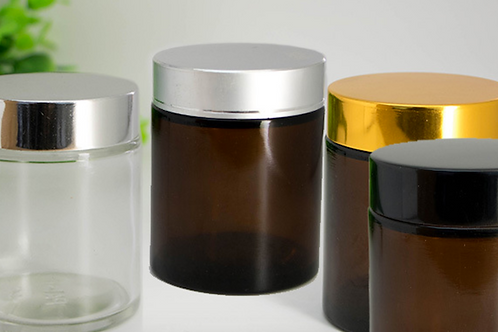 100ml brown cosmetic glass container