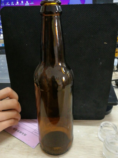 330ml 33cl amber beer glass bottle with crown cap