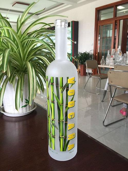 750ml vodka frost glass bottle