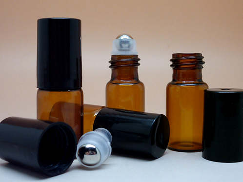 5ml 10ml amber glass essential oil roller bottle