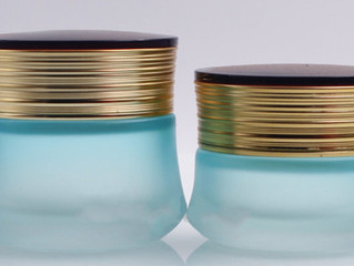 30ml 50ml light blue cosmetic glass jar