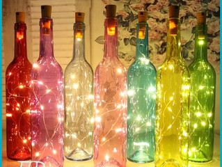 colored glowing decorative glass bottles wholesale