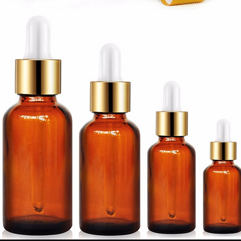 10ml Mini Glass Bottle Amber Round Glass Liquid Reagent Bottle