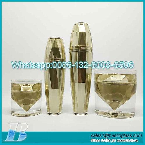 Empty Upscale Acrylic Cosmetic Packaging 4pcs/Set