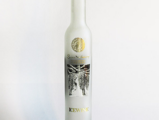 375ml ice wine frosted glass bottle