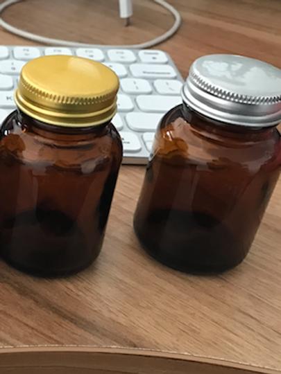 2oz 60ml brown glass jar