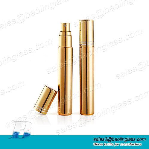 Wholesale mini small glass 3ml 5ml 8ml 10 ml 15ml aluminium perfume spray bottle