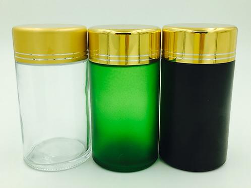 custom 150ml straight pill glass bottle