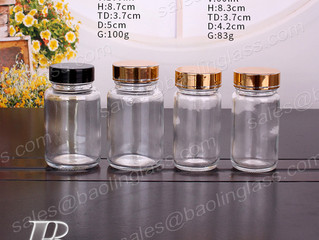 60ml 100ml Clear Glass Medicine Bottle Pharmaceutical Packaging
