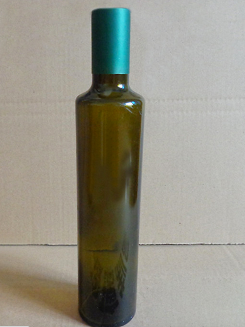 500ml dark green linseed/camellia/olive oil glass bottle