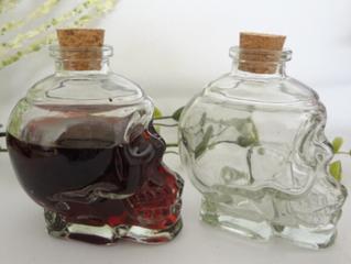Unique vodka/brandy/red wine glass bottle skull shape decanter