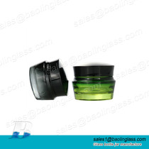 30g Frosted Green Black Facial Cream Jar Cosmetic Glass Bottle