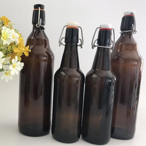 500ml 1000ml amber swing top beer glass bottle