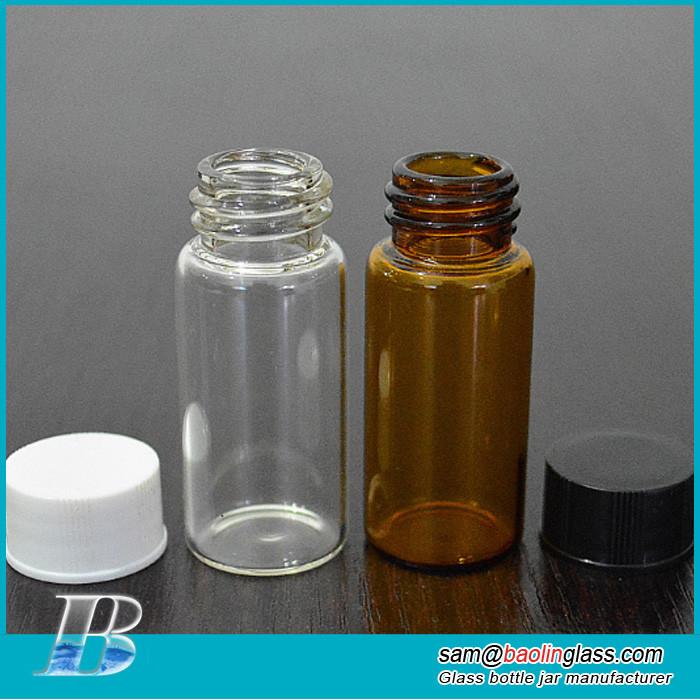 Amber glass bottles for essential oils