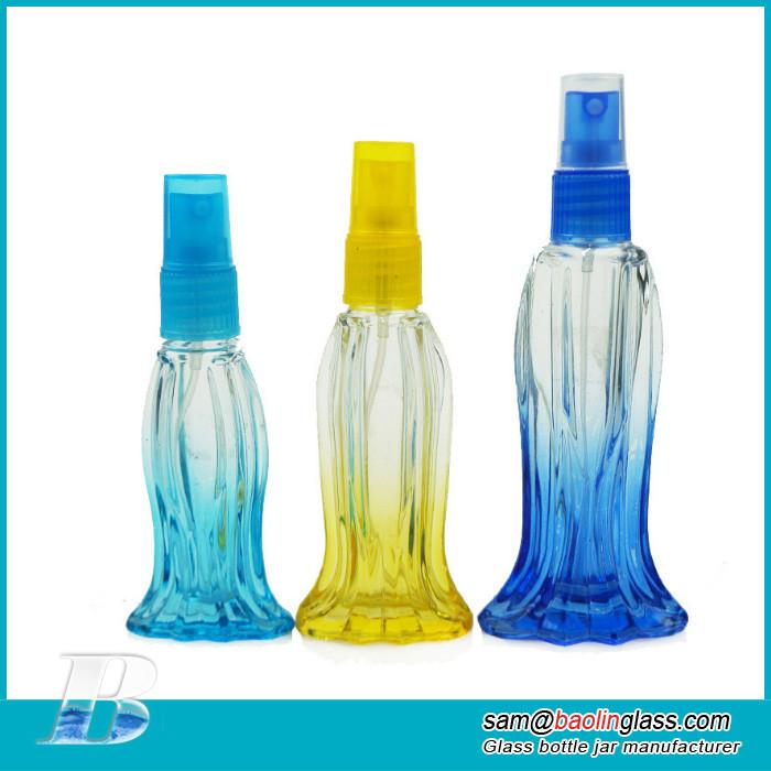Fish shape Perfume Atomizer Glass Bottle Silver Sprayer