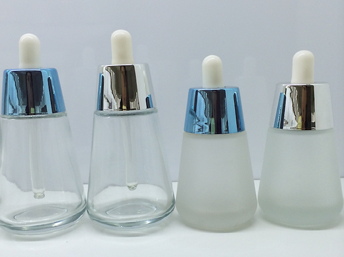 30ml 50ml frosted glass dropper jar