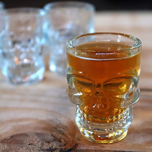 1.5 Ounce skull shot glasses